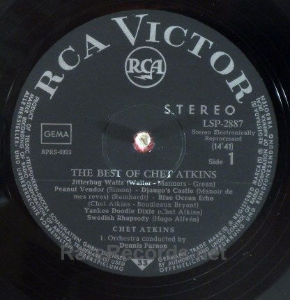 Chet Atkins - Best of Chet Atkins original German 1963 stereo LP