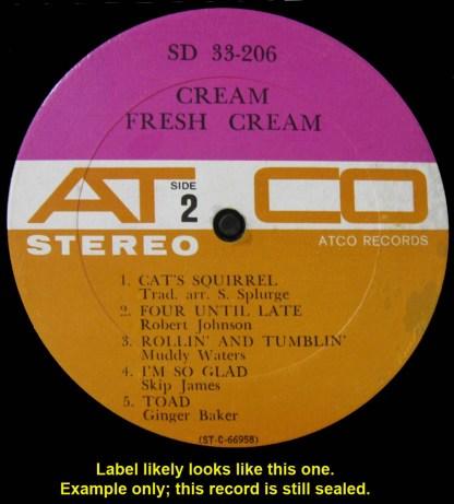 Cream - Fresh Cream sealed 1966 Atco stereo LP