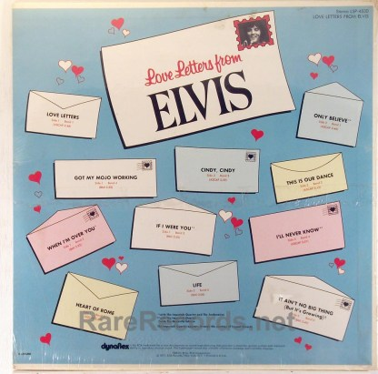 Elvis Presley - Love Letters from Elvis sealed 1971 LP with original cover