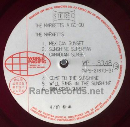 Marketts - Marketts A Go Go original Japan red vinyl test pressing LP with obi