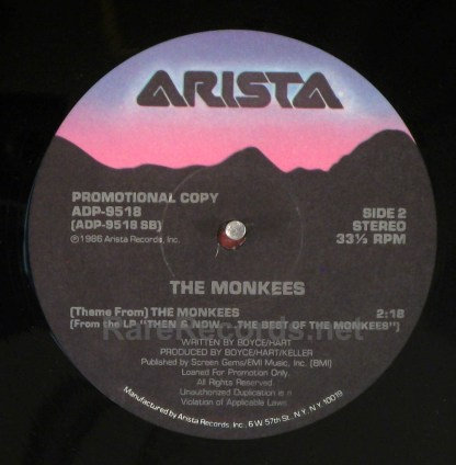 """Monkees - That Was Then, This is Now 1986 promotional 12"""" single"""