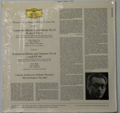 Mozart: Klavierkonzerte - Piano Concertos sealed German Deutsche Grammophon LP