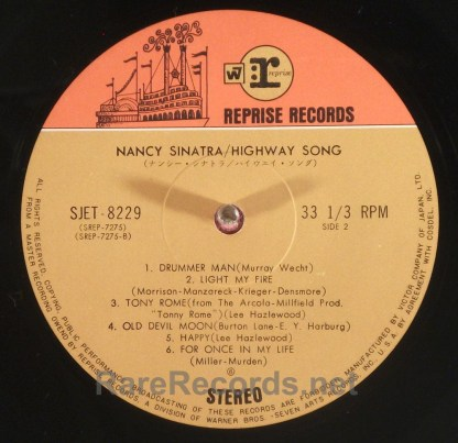 Nancy Sinatra - Highway Song rare Japan-only LP with obi