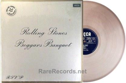 Rolling Stones - Beggar's Banquet rare Dutch brown vinyl LP