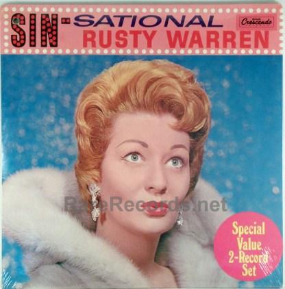 Rusty Warren - Bounces Back/Sin-Sational sealed 1973 2 LP set