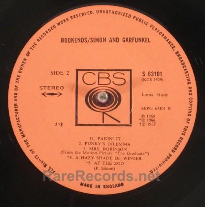Simon and Garfunkel - Bookends UK stereo LP