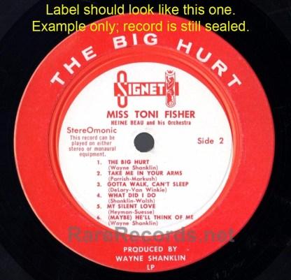 Miss Toni Fisher - The Big Hurt sealed 1960 stereo LP