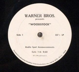 "Woodstock - Ultra rare 1970 10"" radio spots LP for film"