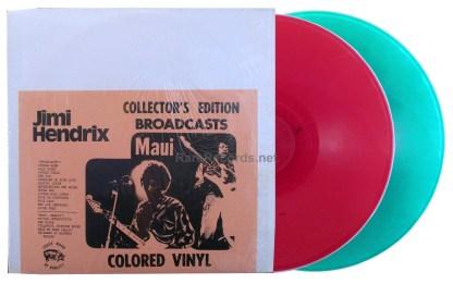 jimi hendrix - broadcasts/maui red green vinyl lp