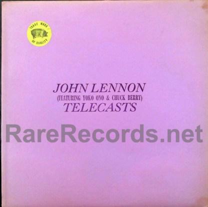 john lennon - telecasts trademark of quality lp