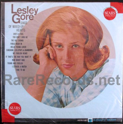 lesley gore - sings of mixed-up hearts u.s. mono lp