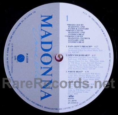 madonna - true blue japan lp