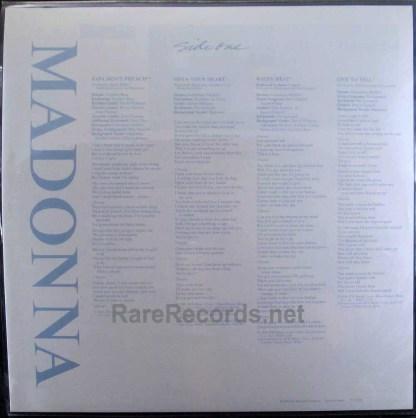 Madonna true blue japan picture disd