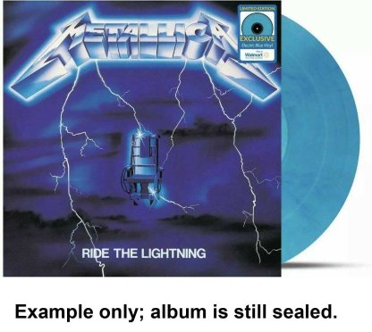 metallica - ride the lightning blue vinyl u.s. lp