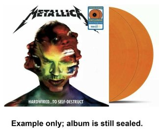 metallica - hardwired to self-destruct orange vinyl u.s. lp