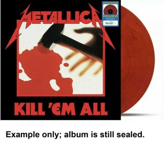 metallica - kill 'em all red vinyl u.s. lp