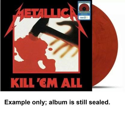 metallica - kill 'em all red vinyl u.s. lp
