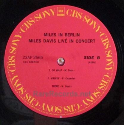 miles davis - miles in berlin japan lp