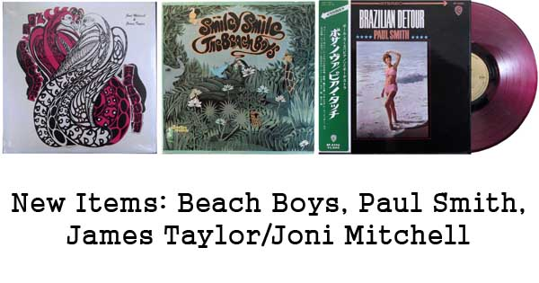 new rare records - joni mitchell, james taylor, beach boys, paul smith