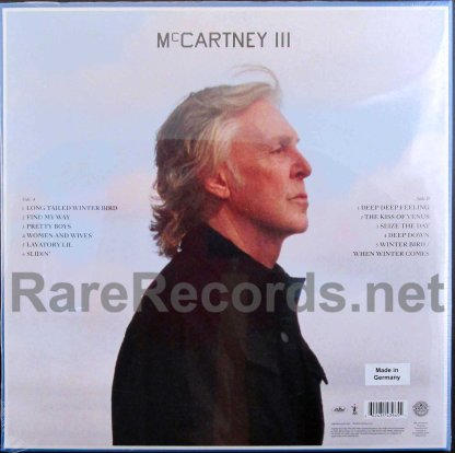 paul mccartney - mccartney III german yellow vinyl LP