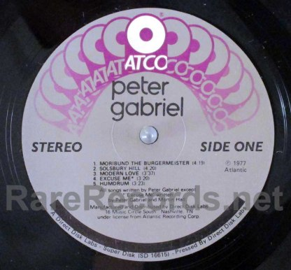 peter gabriel - peter gabriel superdisk LP