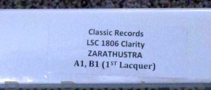reiner/cso - also sprach zarathustra classic records test pressing lp