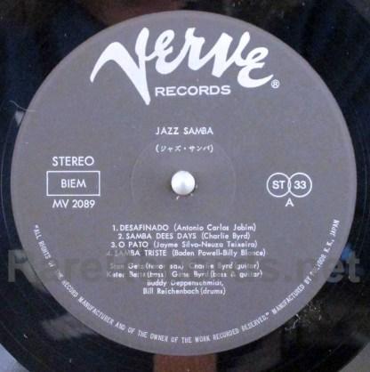 stan getz charlie byrd - jazz samba japan lp