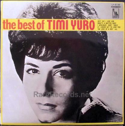 timi yuro- the best of timi yuro japan red vinyl lp