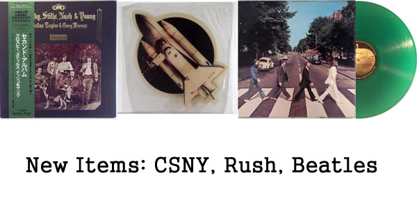 new rare records - csny, rush, beatles