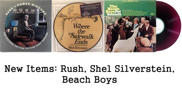 rare records, rush, shel silverstein, beach boys