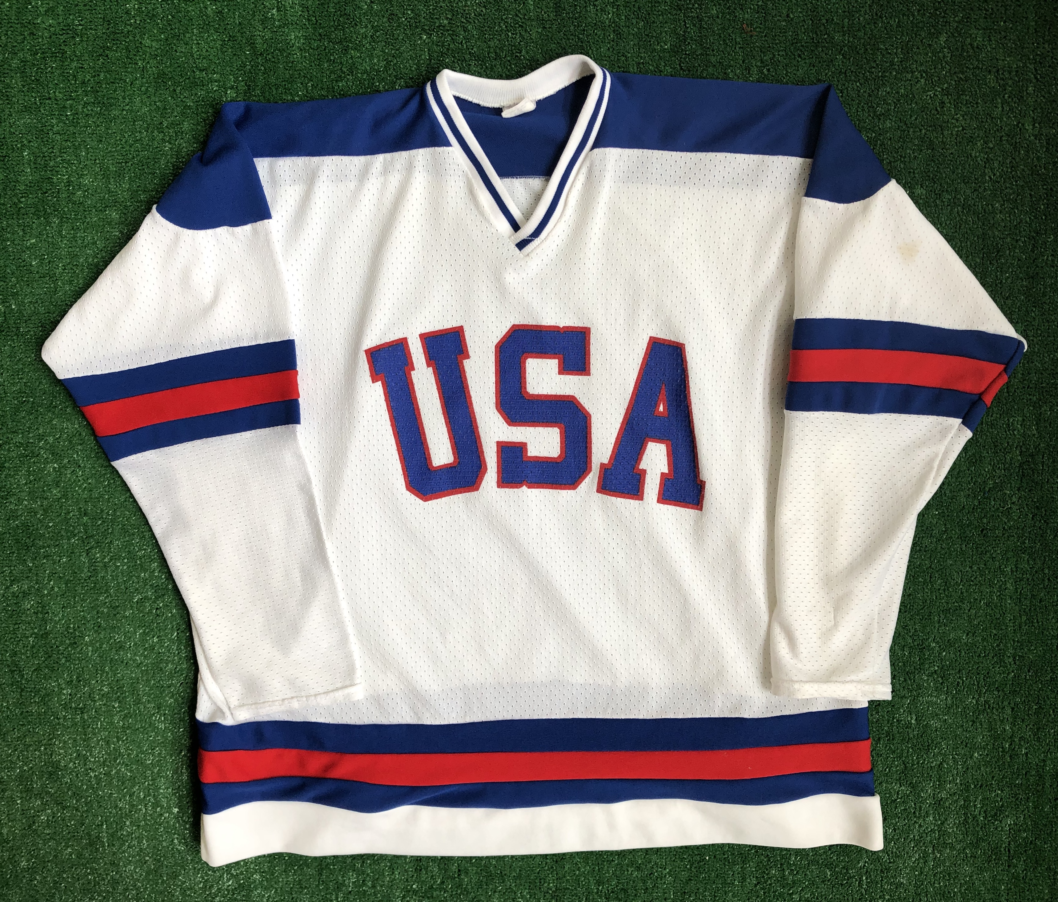 Team Usa Olympic Hockey Miracle On Ice Jersey Size L