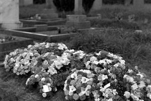 78. Funeral. Rasen Mail glass neg 078
