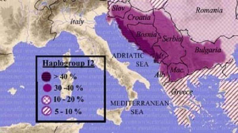 Хаплогрупа I2 - Балкан