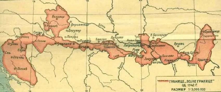 Војна Крајина, 18. век