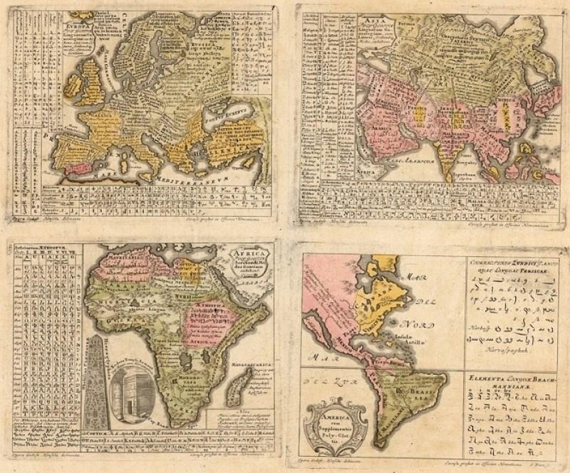 ФАНТАСТИЧНО ОТКРИЋЕ: Карта света из 1741. са речима ''Оче наш'' на свим светским језицима, Срби представљени као Илири! (ФОТО) 4