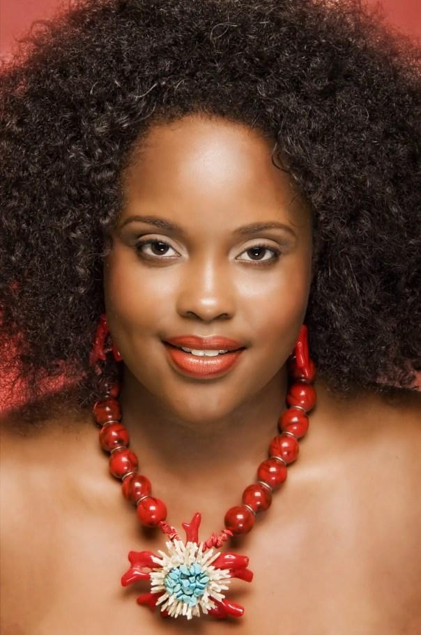 Fashion and Headshot photographs of average Bahamian women wearing unique jewlery and make up by Callidora