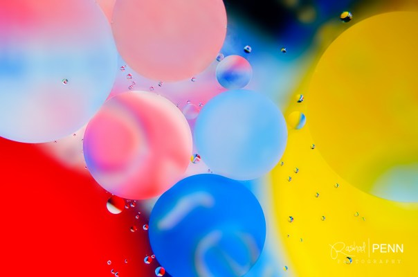 Abstract photography art colored circles