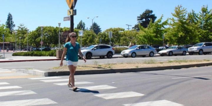Crosswalk at North Berkeley Bart