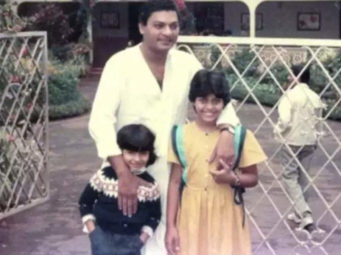 पिता के साथ थ्रोबैक फोटो
