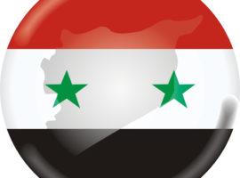 syria flag button