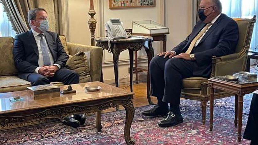 شكري لمسؤول أوروبي: مصر تتجه لتصبح مركزا لتصنيع لقاحات كورونا وتصديرها لأفريقيا