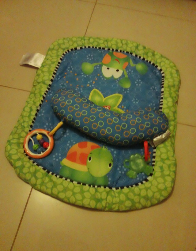 Bright Starts Tummy Time Playmat and Pillow