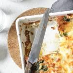 Cheesy Spinach Potato Bake
