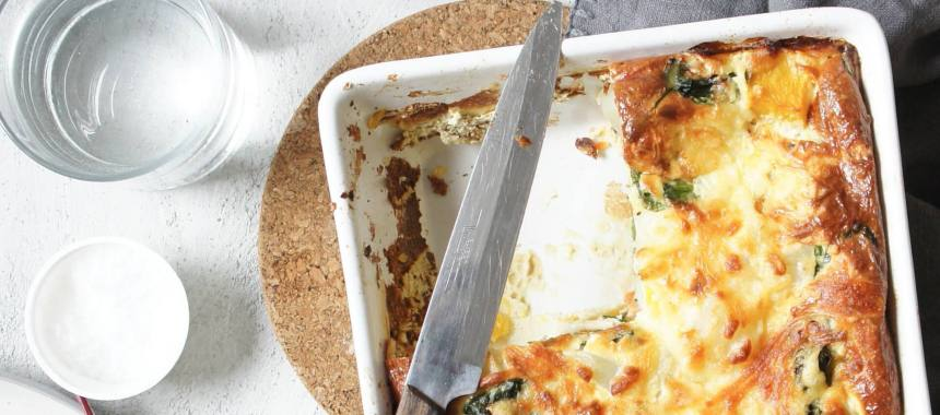 Cheesy Spinach Potato Bake Recipe