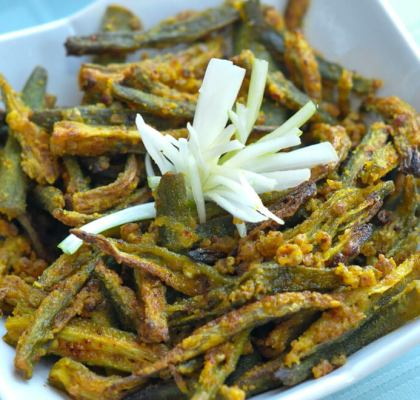 crispy bhindi tava fry recipe by rasoi menu