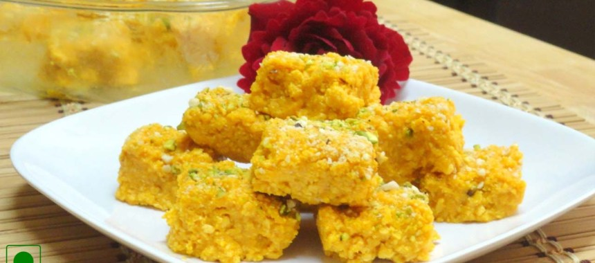 Mango Coconut Burfi Recipe