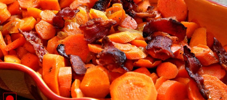 Orange-Glazed Carrot with Bacon Recipe