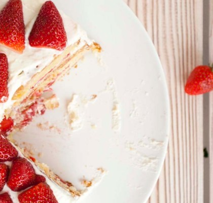 Strawberry Layer Cake recipe by rasoi menu