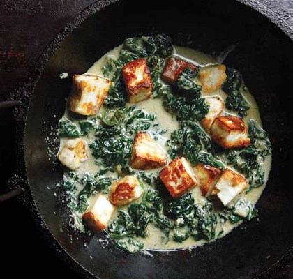 paneer spinach and baked beans recipe by rasoi menu