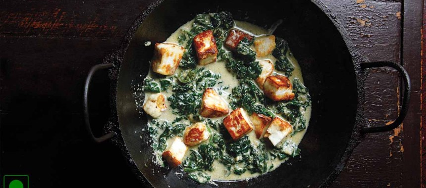 Paneer Spinach & Baked Beans Recipe